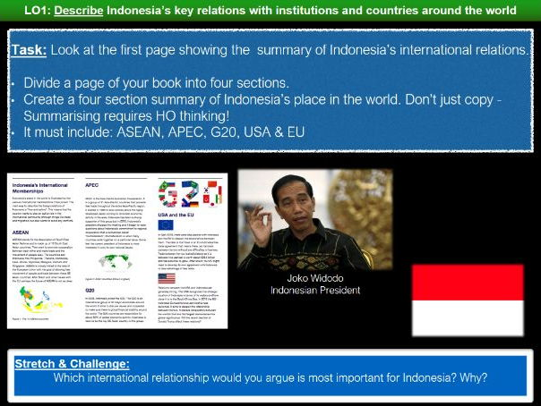 Edexcel Geography B - Development Dynamics: Lesson Seven - Indonesia's Place in the World