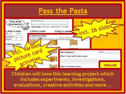 KS1 Pasta Project - cross-curricular
