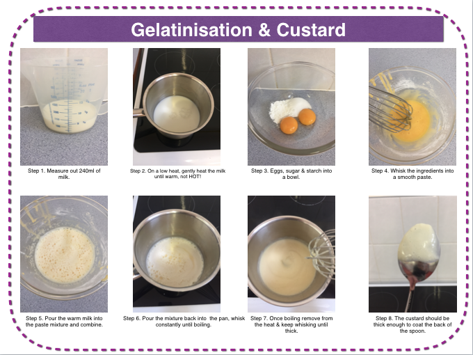 Starch gelatinisation - custard and trifle making practical lesson