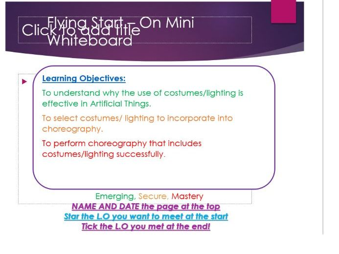 Artificial Things GCSE Dance Powerpoint
