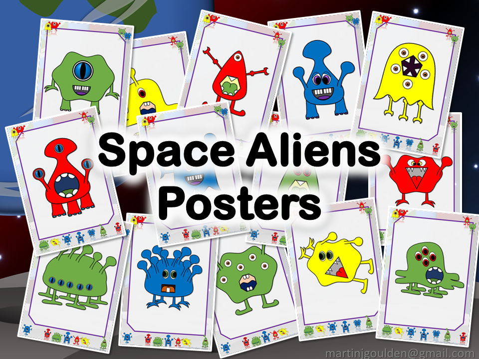 Space Alien Posters