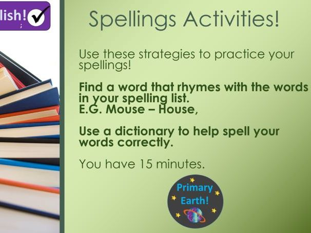 Fun Spelling Activities - Primary Earth