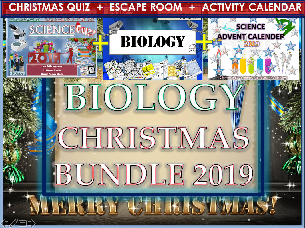 Biology Christmas 2019 Bundle  - Science