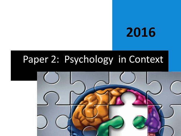 Complete Student Workbook Paper 2 - Psychology in Context