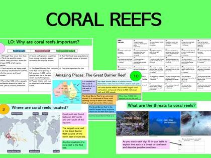 Coral Reefs KS3 (3 lessons)