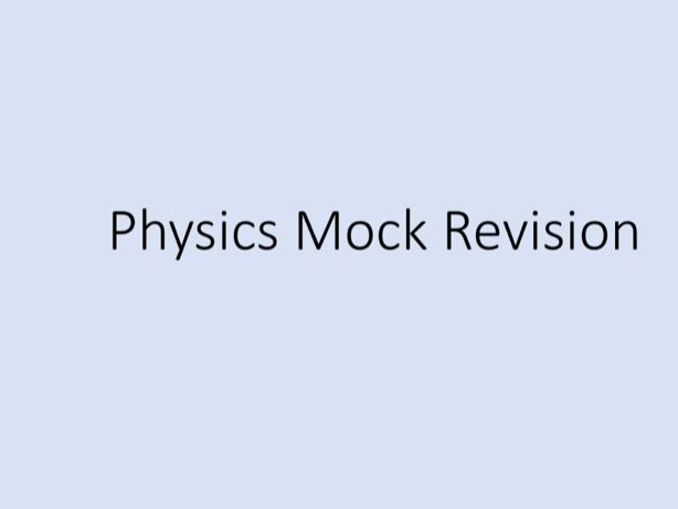 Physics GCSE - Tuition Lessons revision  (Power Point)