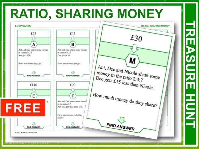 Ratio, Sharing Money (Treasure Hunt)