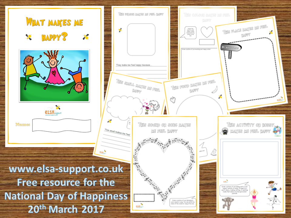 What makes me happy? - free booklet for the International Day of Happiness 20th March