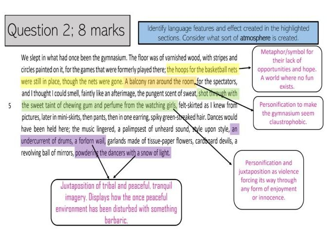 English Language Paper 1 Handmaid's Tale Revision
