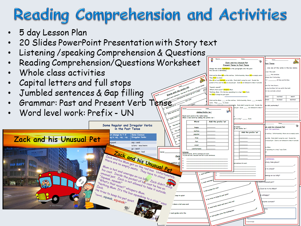 Printable Worksheets past tense worksheets ks2 : Reading Comprehension, Text, Sentence /Word/Grammar ...