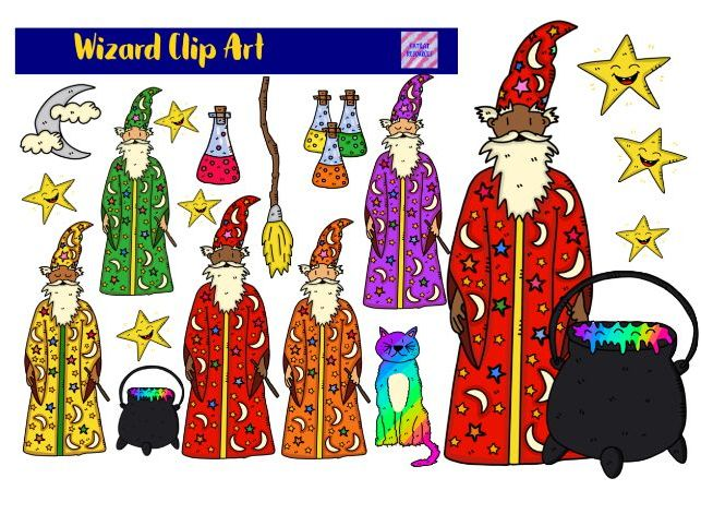 Cute Wizard Clipart