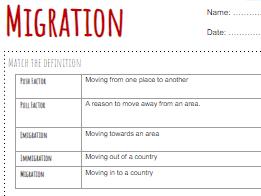 Migration and Brexit Worksheet