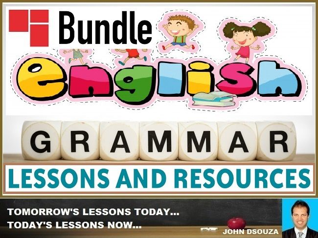 ENGLISH GRAMMAR LESSONS AND RESOURCES: BUNDLE