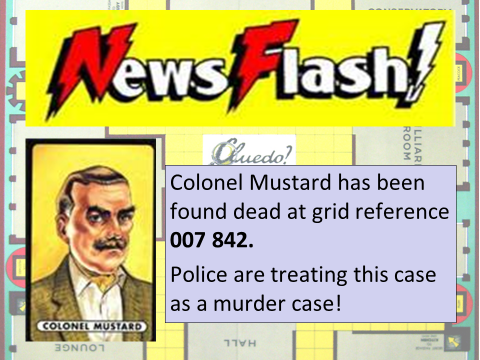 Grid References - Colonel Mustard Mystery