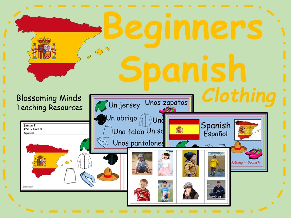 Spanish lesson and resources - KS2 - Clothing