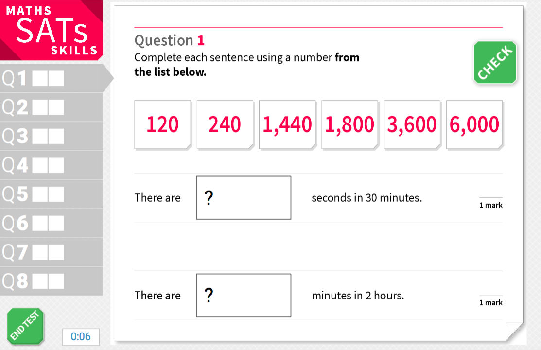 Converting between units of time - KS2 Maths Sats Reasoning - Interactive Exercises
