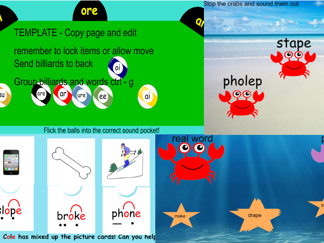 PHONICS FUN screening test revision games/activities  Interactive White board Year 1