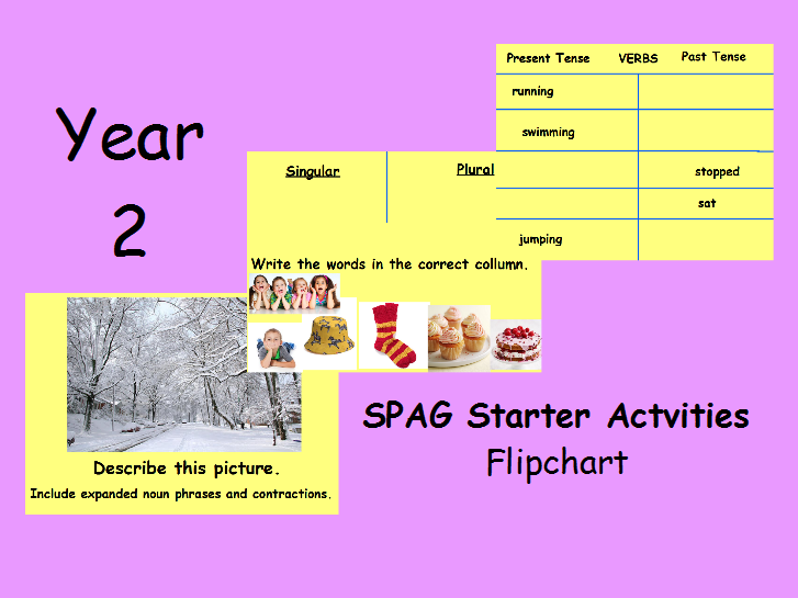 Year 2 SPAG starter activities