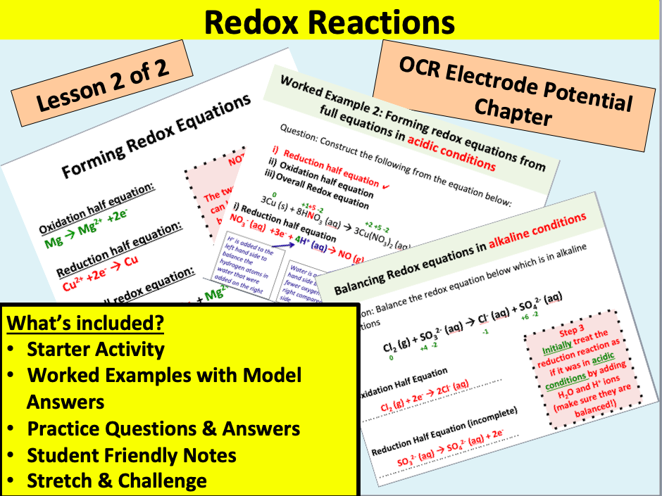 OCR Redox Reactions (part 2)