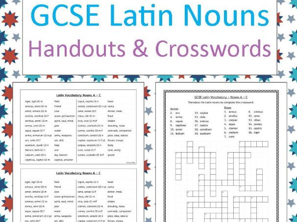 GCSE Latin Nouns - handouts and crosswords
