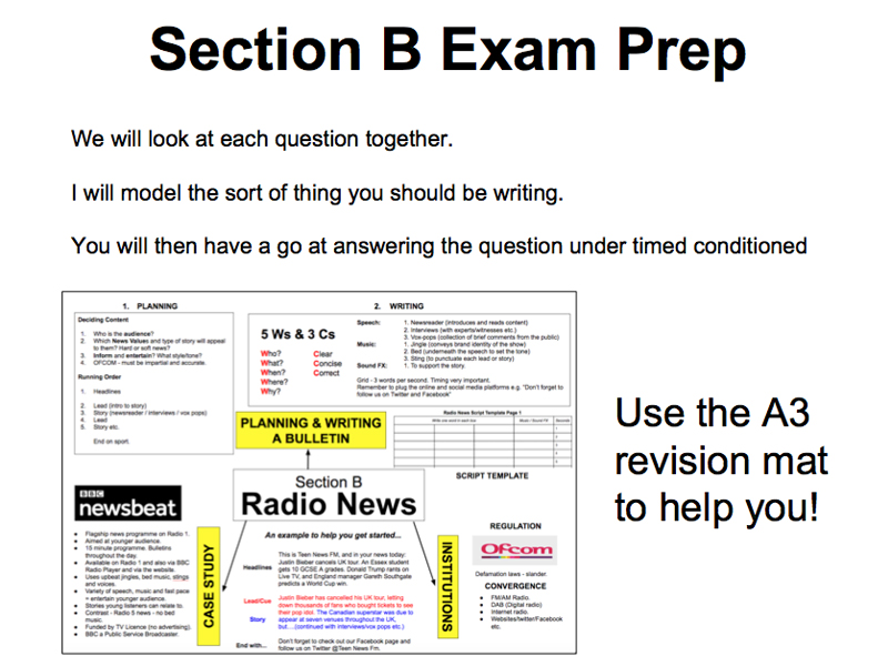 WJEC GCSE Media Section B Mock Exam Prep - Radio News