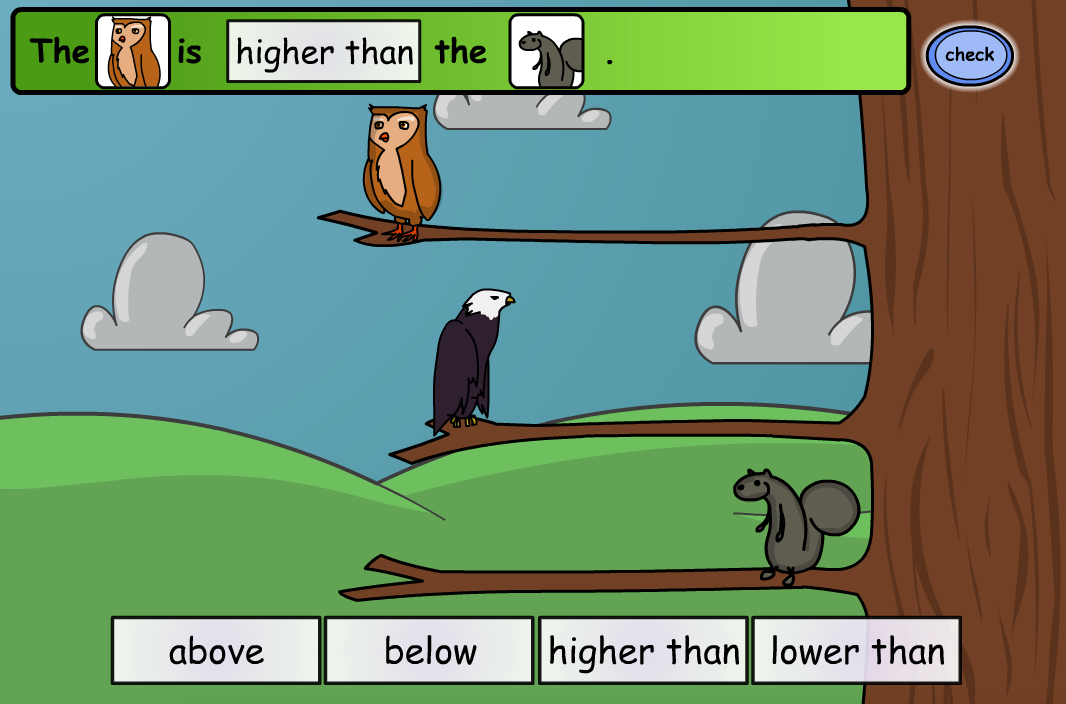 Naming Positions: Animals - Interactive Activity - KS1 Geometry