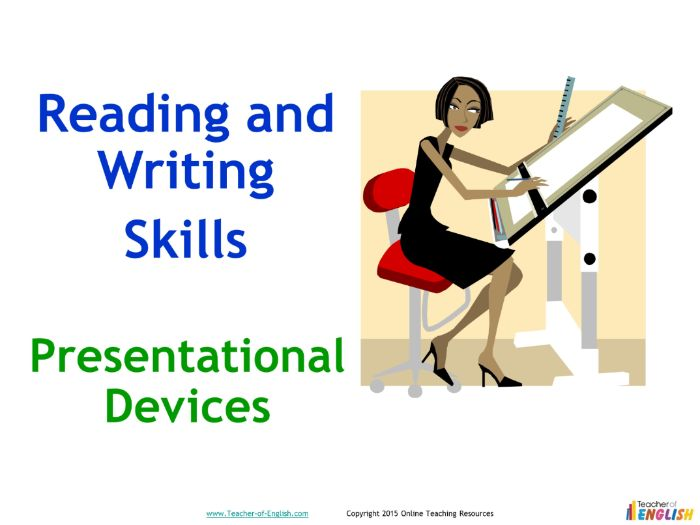 Presentational Devices (PowerPoint and worksheets)