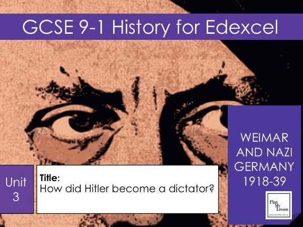 GCSE Weimar and Nazi Germany: L28 How did Hitler become a dictator?