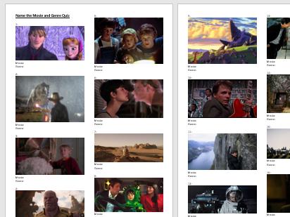 Quiz - Name the Movie and Genre Quiz