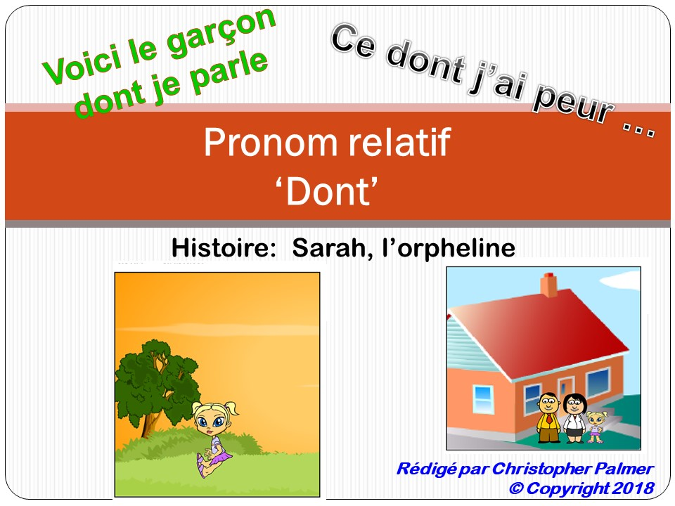 French: The relative pronoun 'dont'