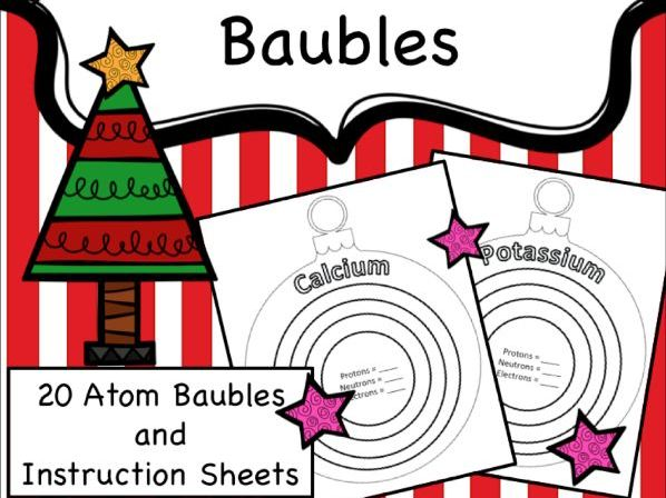Christmas Chemistry Atoms
