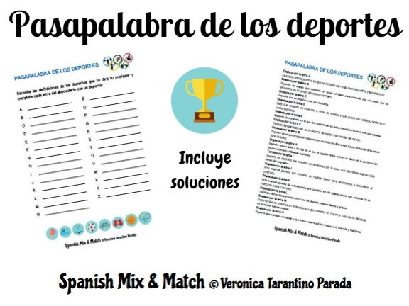 Spanish game Pasapalabra to practice Sports vocabulary (GCSE, AS level)