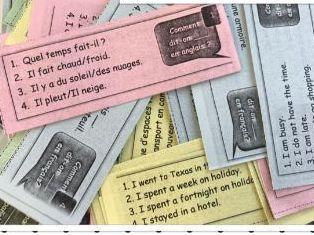 French/Spanish general revision flashcards