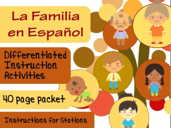 Spanish Family Unit La Familia Stations Differentiated