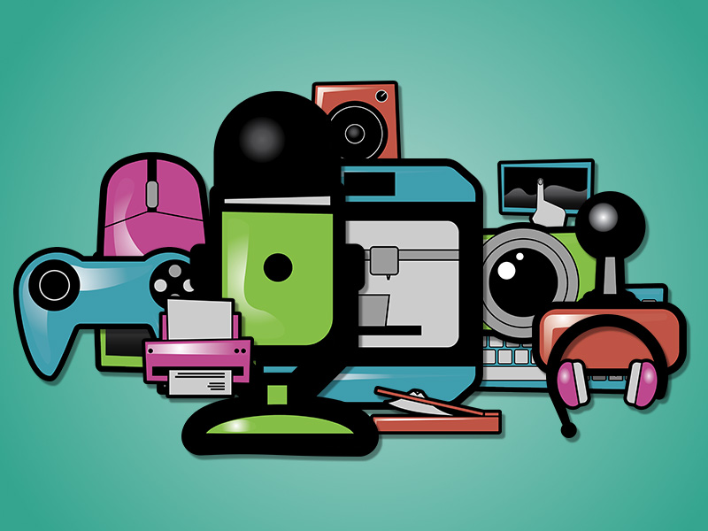 Digital Peripheral Device Clipart Pack