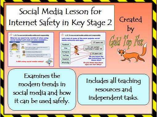 Social Media Lesson for Primary Internet Safety and E-Safety