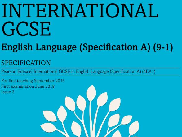 IGCSE Edexcel English Language Mock Paper