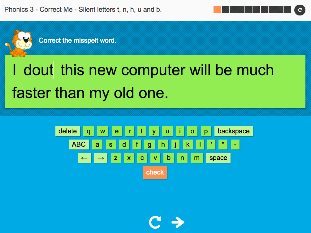 Silent letters (t, n, h, u, b)   - Interactive Spelling Exercise - Year 5 Spag