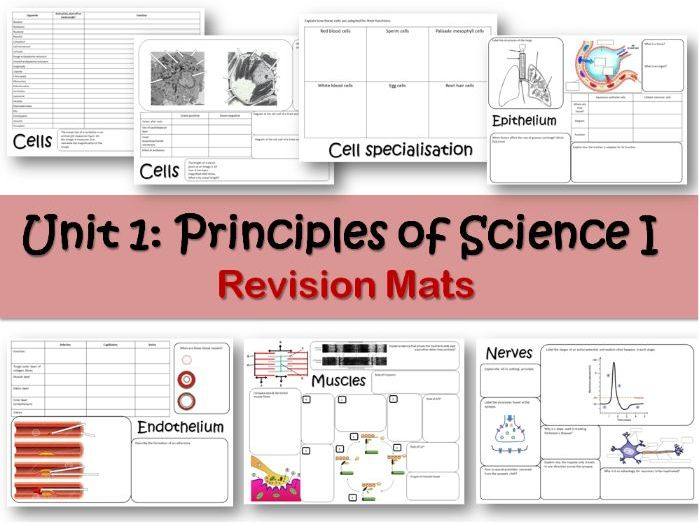 BTEC Applied Science Unit 1 Revision Mats