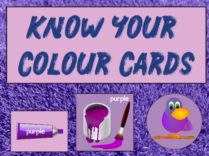 Know Your Colours Cards or Posters