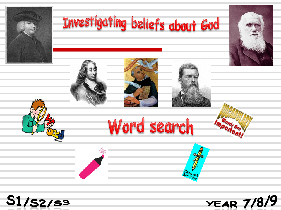 Investigating beliefs about God homework