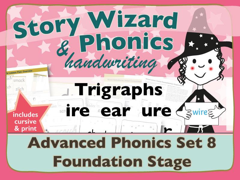Advanced Phonics Set 8: Trigraphs IRE EAR URE