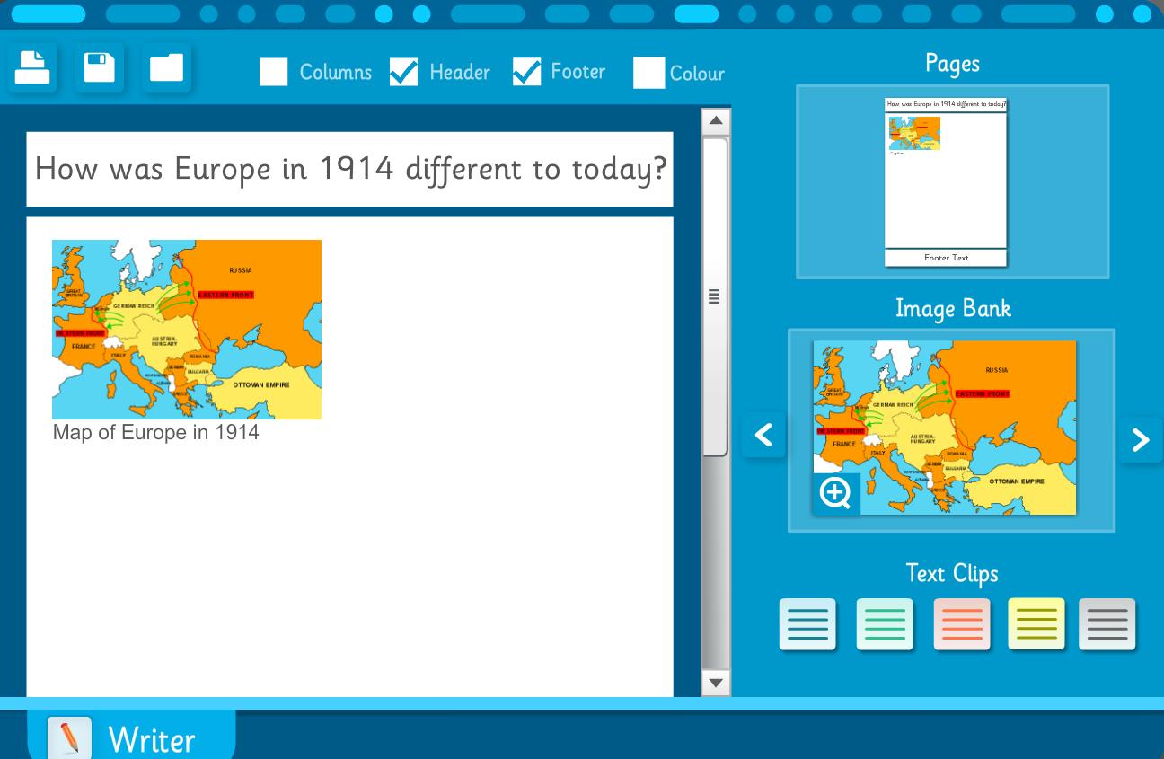Interactive Writing Template - The World Wars KS2