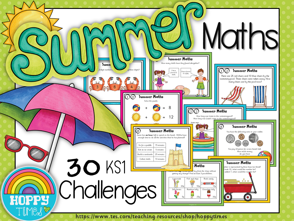 Summer Maths Revision Challenges KS1
