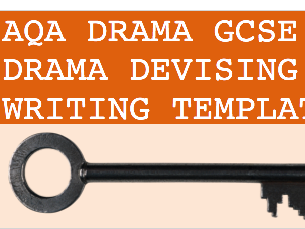 Log writing Template for the New AQA GCSE Devised Spec