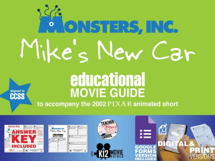 Monsters, Inc. Mike's New Car Pixar Short Video Guide | Questions | Worksheet | Google Form (2002)