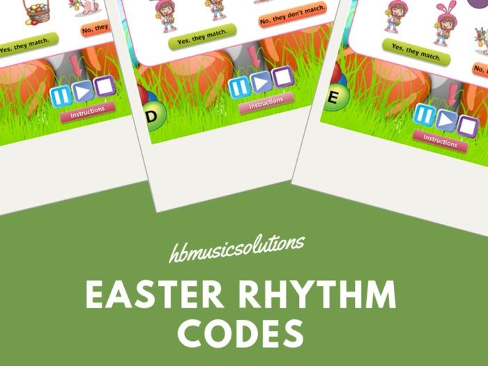 Easter Musical Rhythm Codes Interactive Module