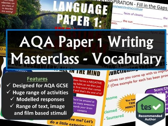 Creative Writing Masterclass - Vocabulary