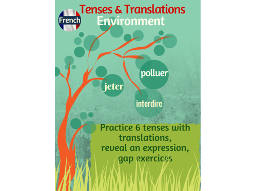 Tenses & Translations practice in French with the environment topic