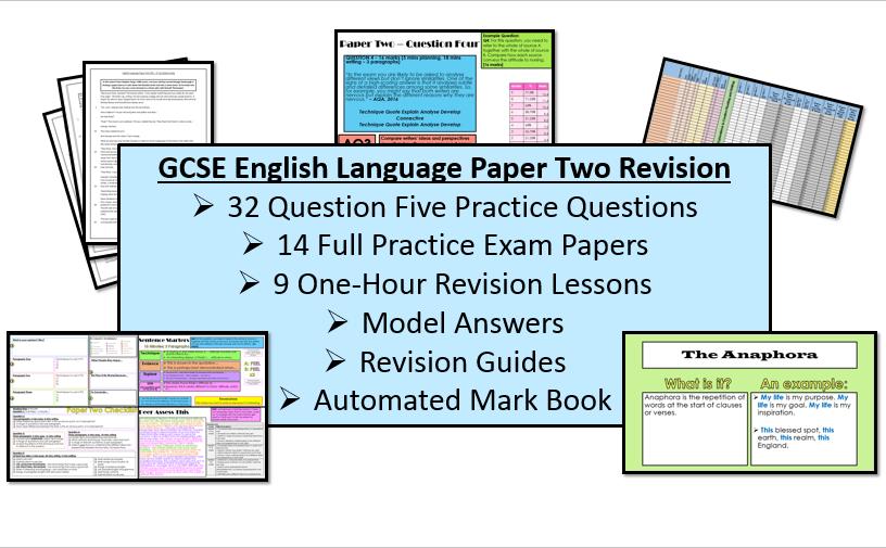 English Language Paper Two Revision & Exam Practice Bundle (AQA, 9-1 GCSE)